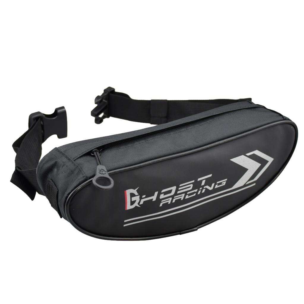 Waterproof Motorcycle Handlebar Bag  Canvas Bike Fork Storage Bag Shoulder Pack Waist Bag  Spacious Interior Design|  - title=
