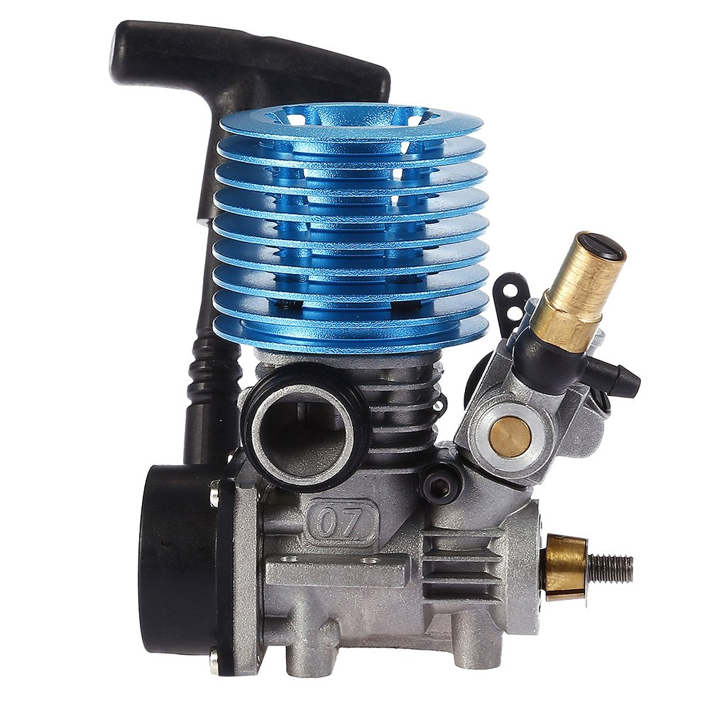 1.14CC 7CXP Side Exhaust Metal Nitro Engine Hand Pull Starter For 1/16 Scale RC Racing Model Buggy Car Truck 31000 Rpm