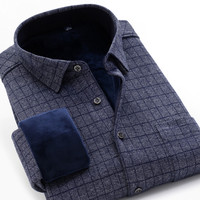 M to 10XL large size brand plaid long sleeved shirt 2019 winter comfortable thick warm high quality fashion youth casual shirt