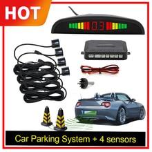 ออโต้ Parktronic LED ที่จอดรถเซ็นเซอร์ 4 เซ็นเซอร์สำรองย้อนกลับที่จอดรถเรดาร์ตรวจสอบระบบตรวจจับ Backlight