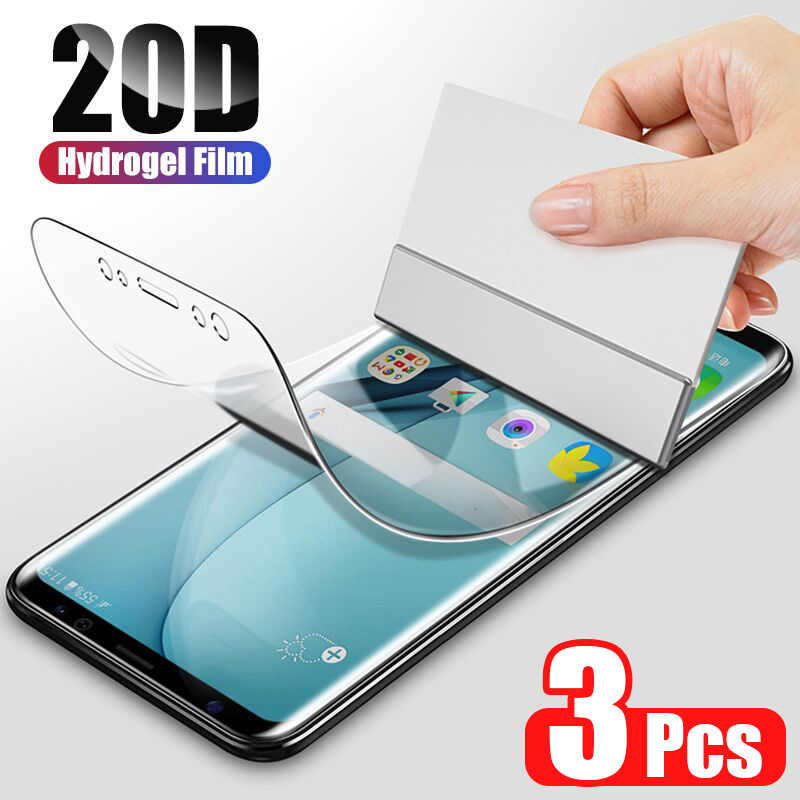 ZNP 20D Hydrogel Film Für Samsung Galaxy S8 S9 S10 S20 Plus Screen Protector Für Samsung Hinweis 9 10 S10 s9 S7 Rand Film Nicht Glas