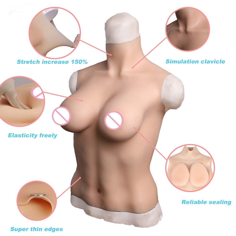 Image 4 - Tgirl Crossdressing Silicone Suit Boobs For Crossdressers Drag queen D Cup Big Fake Breast Forms    -
