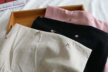 135cm szerokość beżowy czarny różowy czysty kolor ramie bawełniany drobny haft kapok tanie i dobre opinie MEISHIMEIYI CN (pochodzenie)