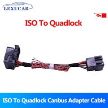 Lexucar ISO To Quadlock Canbus Adapter RCD330 Plus RCD510 Conversion Cable for VW Golf Jetta Polo Tiguan Passat CC Upgrade Radio vw original radio stereo rcd510 camera verion radio for vw golf 5 6 jetta cc tiguan passat polo with code