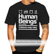 Unisex Mens Anti Racism Human Beings Colours May Vary T Shirt Black