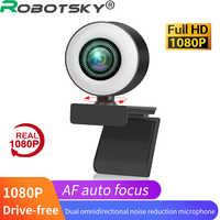 Cámara Web 4K de 1080p con micrófono, Mini cámara Full HD para ordenador, Web Cam para PC, USB