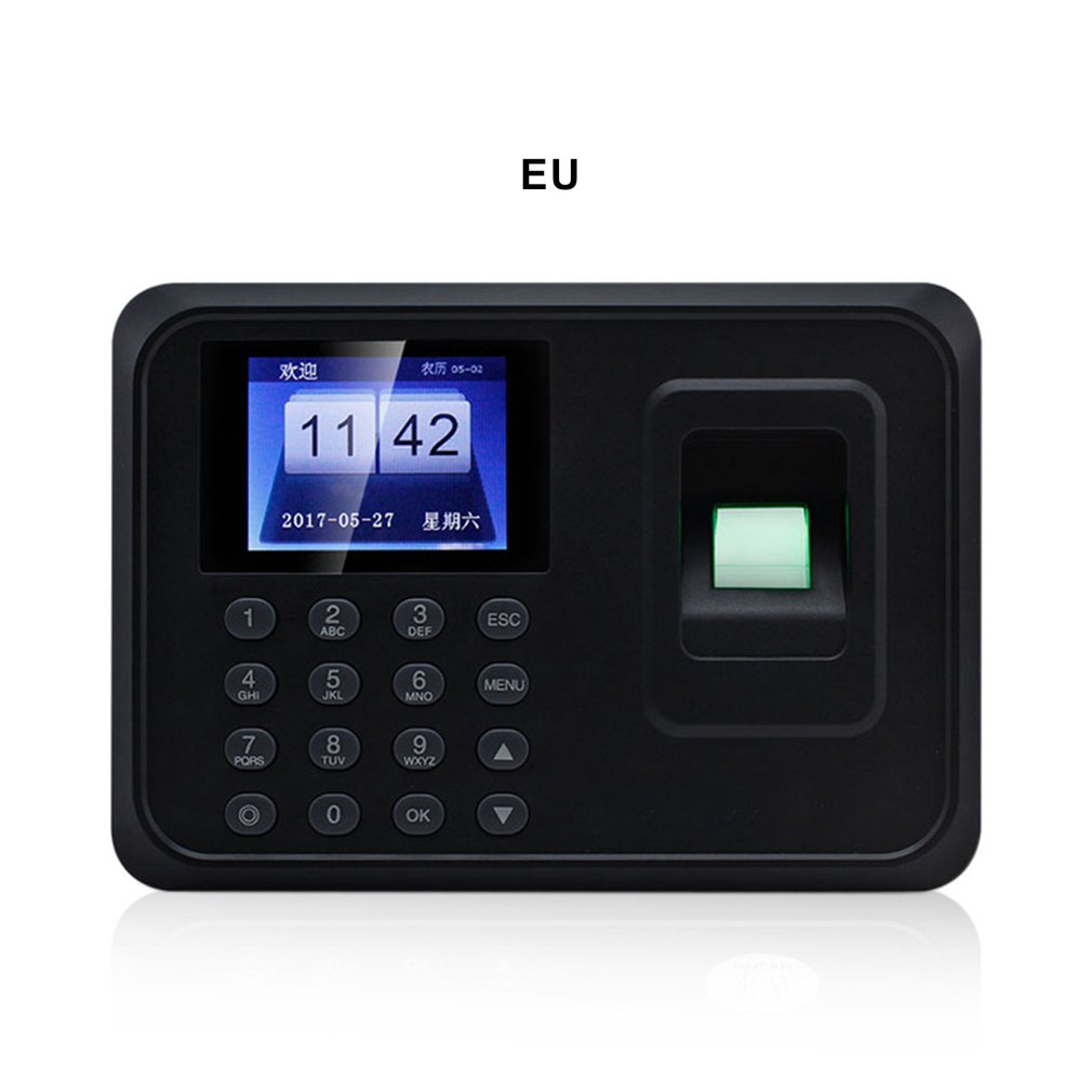 Multi-country Language Fingerprint Attendance Machine Attendance Punch Card Machine System Recorder Timing Employee Machine