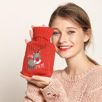Łoś i szczenięta wełna ciepła torba na wodę gorąca torba ciepła torebka przeciwwybuchowa szczelna kreskówka ciepła ręka słodka butelka wody tanie i dobre opinie CN (pochodzenie) Ręcznie ocieplenie Napełniania wody ciepłej wody worek RUBBER HJHJHUUKHIIJ
