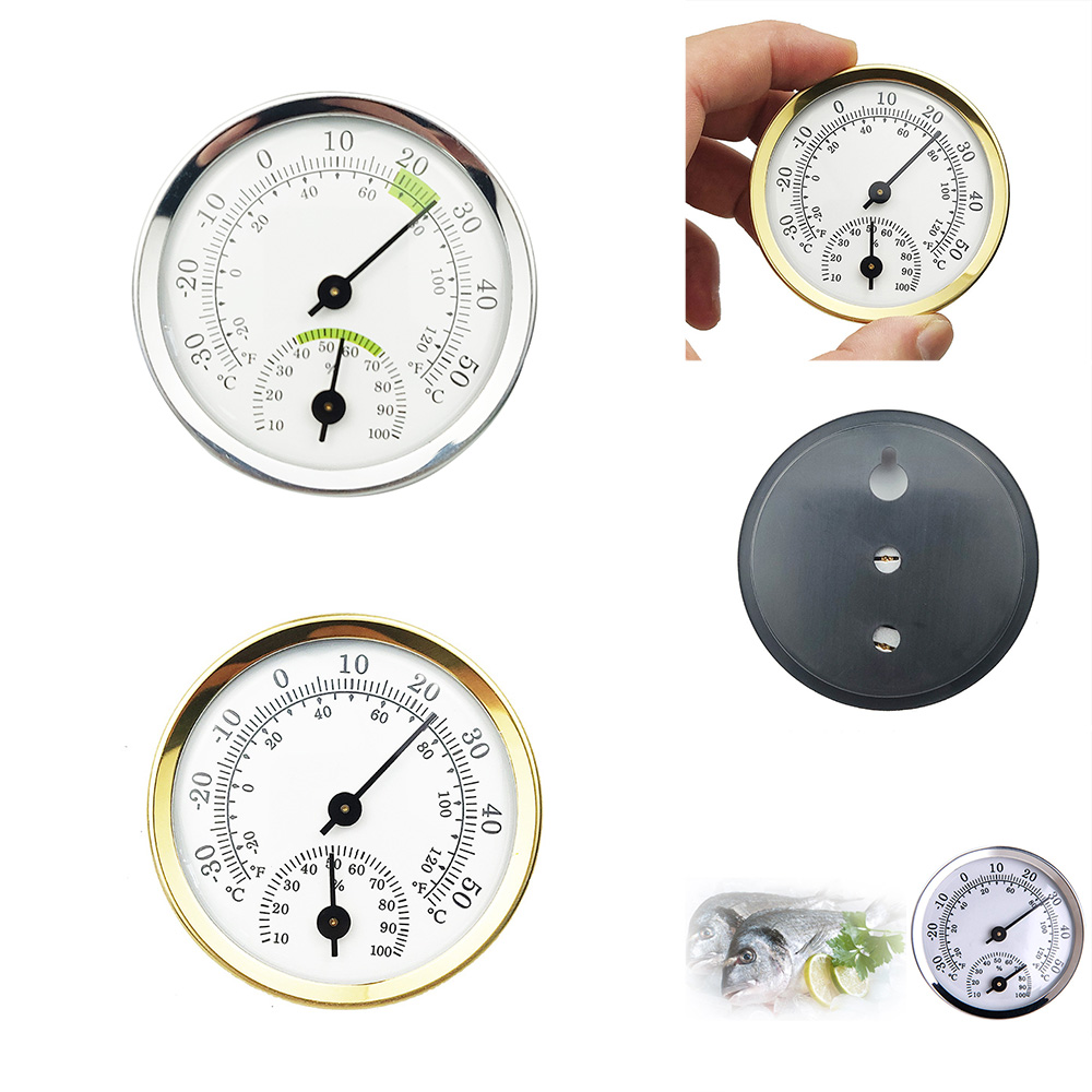 Mini Alloy AluminumThermometer Hygrometer for Sauna Room Temperature Humidity Meter Household Indoor Thermometer Merchandises