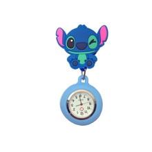 Часы для медсестры в виде животных, часы для доктора, милые Мультяшные Масштабируемые карманные часы для медсестры из мягкой резины, женские медицинские часы со смайликом