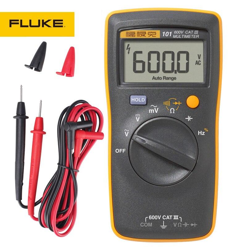 FLUKE Digital Multimeter F101 KIT F106 F107 Basic Dc Accuracy 0 5percent CAT III 600V Diode Continuity Test Buzzer Automatic Shutdown