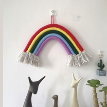 Home Rainbow Charm Hand-knitted Decoration Nordic Childrens Room Ornaments