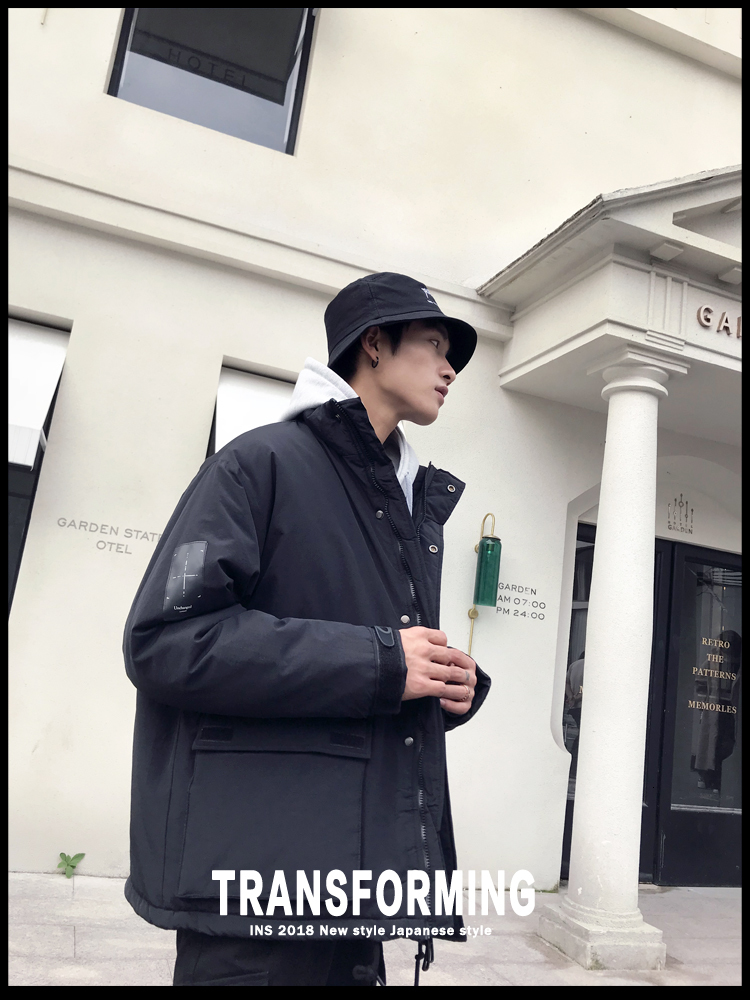 Men's Quality Student Winter Clothes Jacket Men Parka Thick Warm Outwear Korean Youth Streetwear Hip Hop Japan Style Harajuku 4