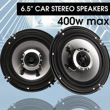 2 pçs 6.5 Polegada 400w alto-falante de áudio do carro 2 vias coaxial alto falante universal veículo auto áudio música estéreo alta fidelidade altifalante