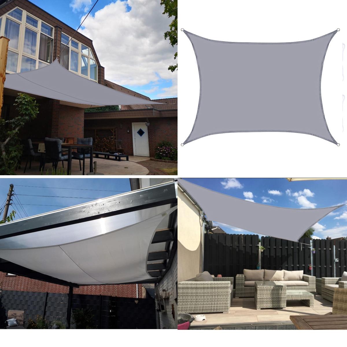 3/4*5m 5*6m 6*8m Proteção UV 70% Oxford Pano Sol Ao Ar Livre À Prova D Água velas de Sombra protetor solar Net Toldos Quintal Jardim Criptografado