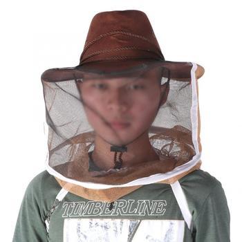 Pszczoła gruby oddychający pszczelarz kapelusz kowbojski pszczoła sieć na owady welon Protector pszczelarstwo silikonowe tanie i dobre opinie VBESTLIFE Poliester Pszczelarstwo Kapelusze