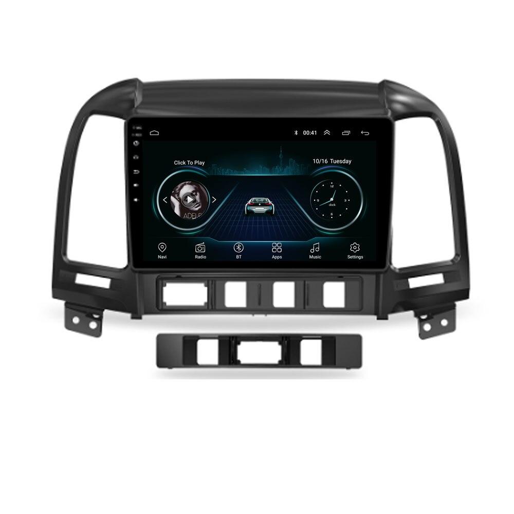 4G LTE Android 10.1 For HYUNDAI SANTA FE 2005 - 2008 2009 2010-2011 2012  Multimedia Stereo Car DVD Player Navigation GPS Radio
