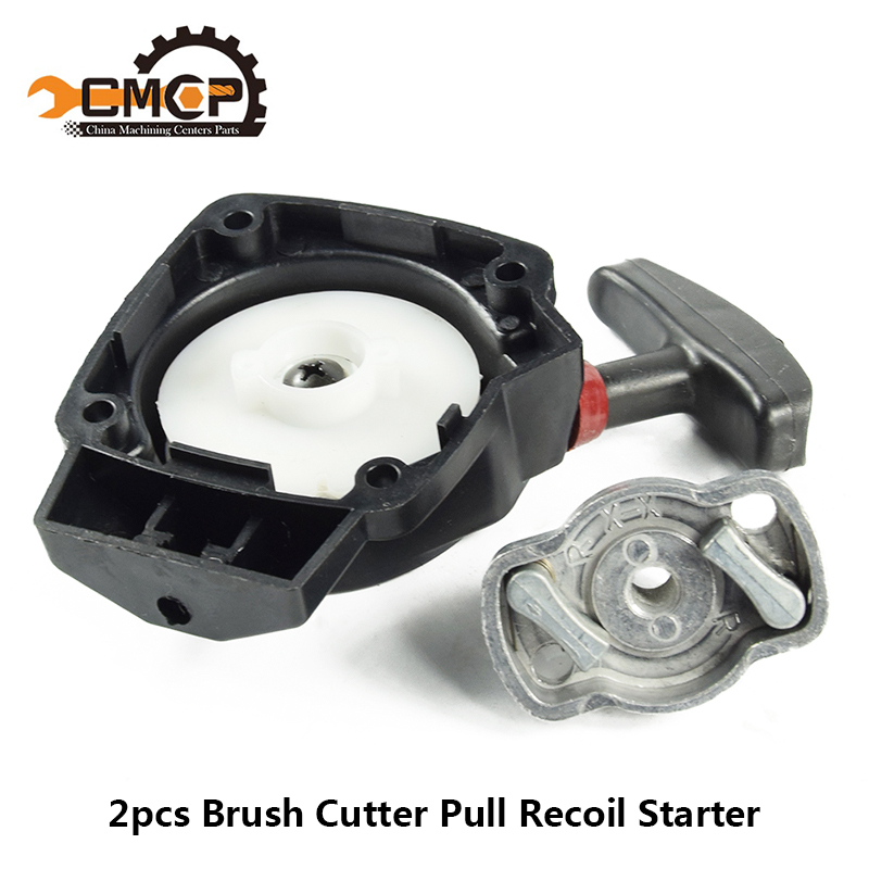 2pcs Brush Cutter Pull Recoil Starter Fit 1E34F Grass Cutter Hedge Trimmer Starter Lawn Mower Parts