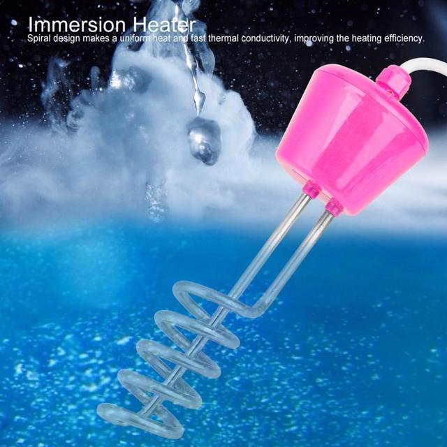 3000W calentador eléctrico flotante 3m Elemento calentador de agua Suspensión de inmersión portátil piscina de baño