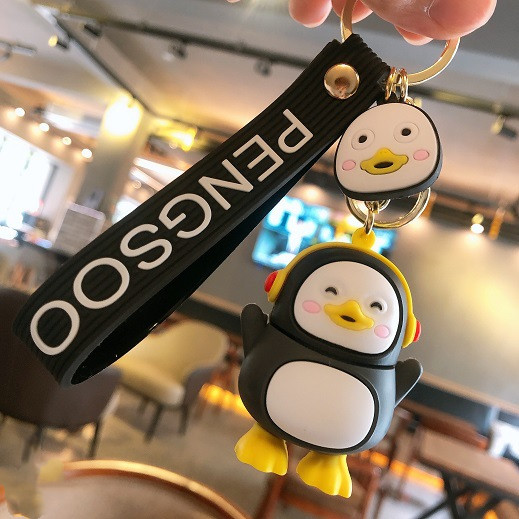 Cartoon Cute Penguin Action Figure Keychains Exquisite Creative Doll Key Chain Package Car Interior Decoration Pendant Key Ring