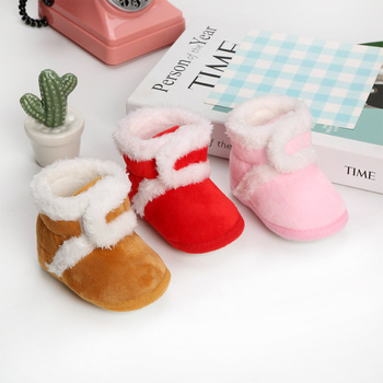 Baby  Warm Newborn Toddler Boots Winter First Walkers baby Girls Boys Shoes Soft Sole Fur Snow Booties for 0-18M