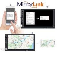 7'' Touch Screen 2 Din Multimedia Car MP5 Player Car Radio with Rear Camera Autoradio Mirror Link Steering Wheel Remote Control