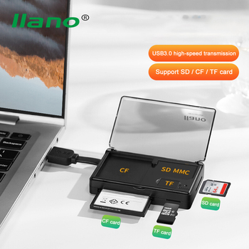 LLANO USB 3.0 Card Reader 3 in 1 Card Reader SD Micro SD TF CF  Compact Flash Card Adapter for Laptop Multi Card Reader USB 3.0 multi in 1 tf usb memory adapter for micro sd card reader adapter for flash drive multi otg reader for iphone 5 5s 5c 6 7 8