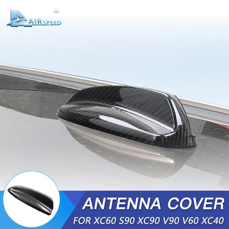 AIRSPEED pour Volvo XC60 XC90 S90 V90 V60 XC40 accessoires fibre de carbone voiture aileron de requin antenne couverture décoration aérienne style de voiture