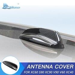 FLUGGESCHWINDIGKEIT für Volvo XC60 XC90 S90 V90 V60 XC40 Zubehör Carbon Faser Auto Shark Fin Antenne Abdeckung Antenne Dekoration Auto styling