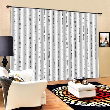 morden simple curtains Customized size Luxury Blackout 3D Window Curtains For Living Room Solid color curtain