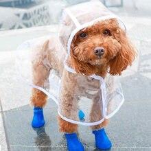 Chubasquero para perros pequeños, Poncho Impermeable para cachorros, gatos y perros, chubasquero, 5 colores