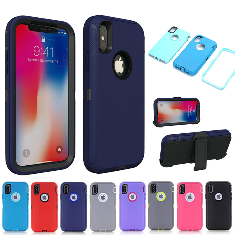 Armor Series Shock Proof Aqua <font><b>Case</b></font> for <font><b>iPhone</b></font> X XS MAX <font><b>XR</b></font> 6 6S 7 8 Plus 11 Pro Max <font><b>Case</b></font> Holster <font><b>Belt</b></font> Clip Fits Defender Cover image