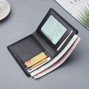 Short Wallets Card-Holder Money-Clip Purs Solid-Coin Vintage Multifunctional Male Casual