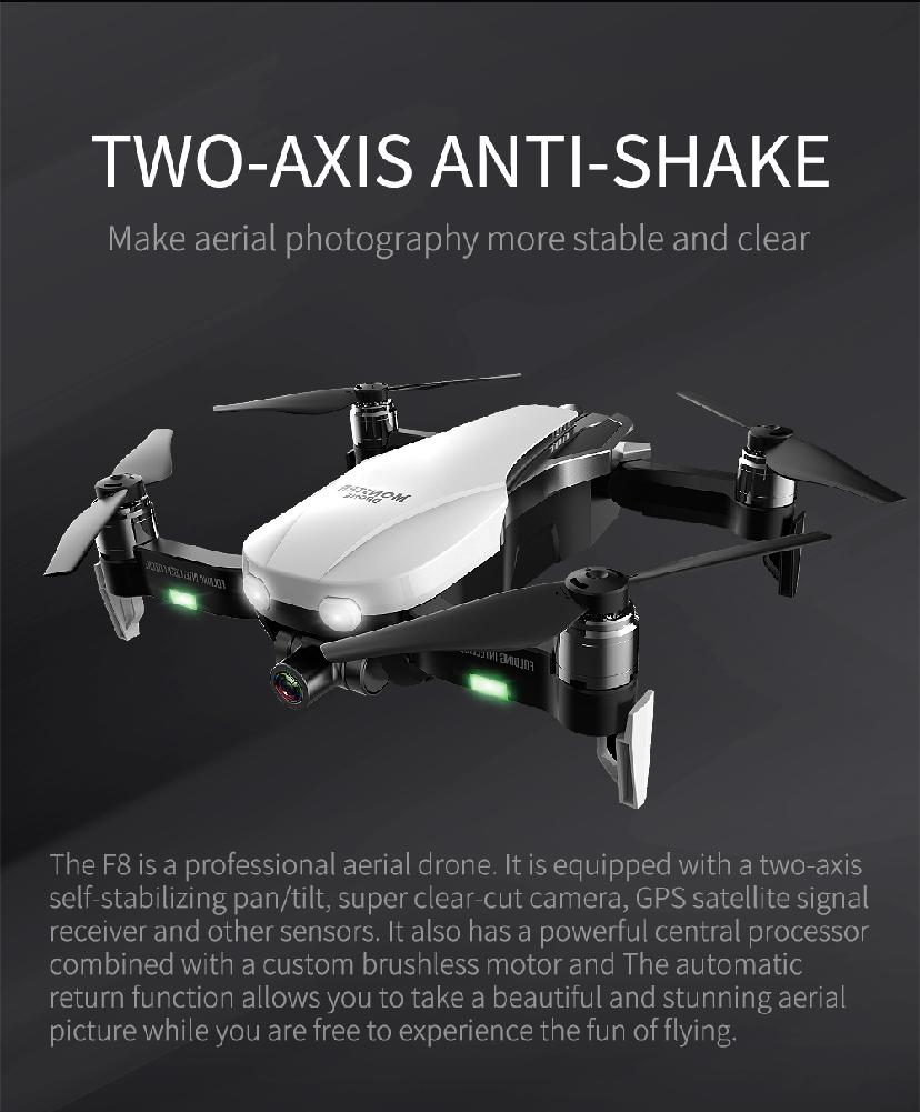 F8 Profissional FPV Vision 4K HD Camera Drone with Two-Axis Anti-Shake and GPS 16