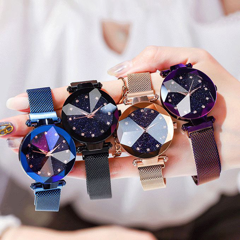 Luxury Magnetic Women Watches Starry Sky Watch Women Diamond Female Quartz Ladies Wristwatches Clock Zegarek Damski Reloj Mujer