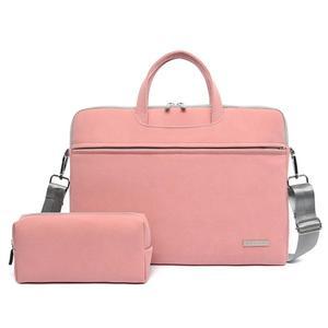 Сумка для ноутбука из ПУ кожи, сумка для переноски ноутбука, портфель для Macbook Air 13,3 14 15,6 дюйма, мужская сумка через плечо, сумка для мыши