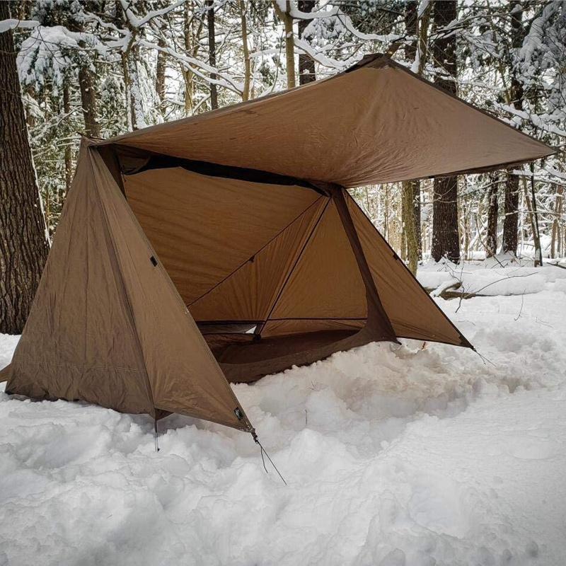 Hearty 3 Season Double Person Camping Tent Ultralight Nylon Shelter Baker Tent For Bushcraft Survivalists Hunting Hiking