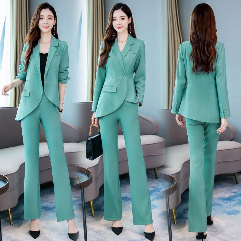 New Autumn Office Women's Suits Pants Suit Slim Ladies Jacket Blazer Women's Professional Suit Casual Trousers Two-piece Set