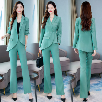 New autumn office women's suits pants suit Slim ladies jacket blazer Women's professional suit casual trousers Two-piece set