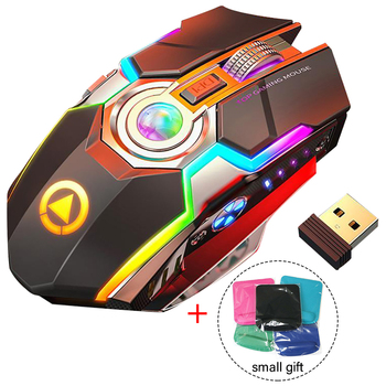 Rechargeable 7 Keys 1600 DPI Backlit  Wireless Gaming Mouse Gaming Mouse