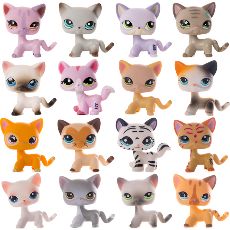Original LPS Cat Little Pet Shop Old Standing Shorthair Kittens lot Collection Spaniel Dog Action Figure Model Dolls Toys Gifts