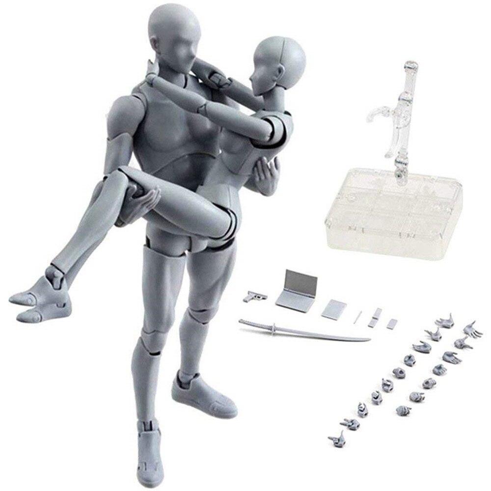 SHFiguarts Body Kun DX Set Movable Figures BODY KUN / BODY CHAN Grey / Orange Color Ver PVC Action Figure Collectible Model Toys