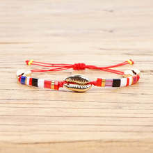 Shinus MIYUKI Tila Beads Bracelets Gold Shell Bracelet For Women Pulseira Mujer Moda 2019 Summer Beach Jewelry Bohemian Bileklik стоимость