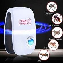 Répulsif Anti-moustique électronique ultrasonique rechargeable prise EU/US/royaume-uni répulsif anti-cafards insecte souris répulsif d'insectes