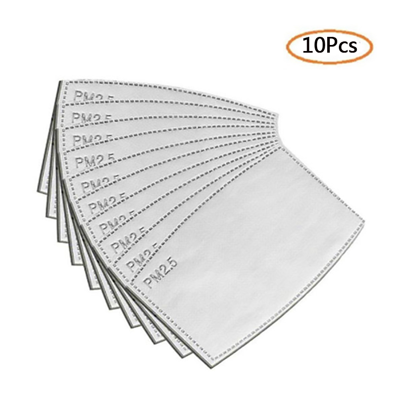 80Pcs PM2.5 Filters Anti-fog Filter Breathable Dust Mask Filters For Safety Dust Respirator Mouth Mask Activated Carbon Pads