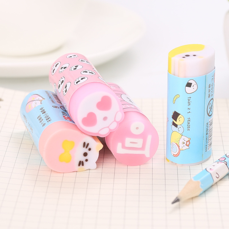 Creative Cartoon Funny Rubber Eraser Students Sketch Only Traceless Rubber Young STUDENT'S School Small Gifts Wholesale