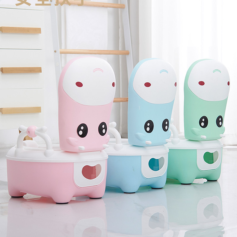Potty Training Seat Baby Potty Portable Toilet Bowl Multifunction Training Potty Toilet With Toilet Brush And Cushion