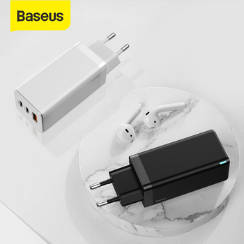 Baseus GaN Charger 65W Quick Charge 4.0 PD Fast Charge AFC FCP Travel Charger For Macbook Pro For iPhone 11 X XS Huawei Mate20