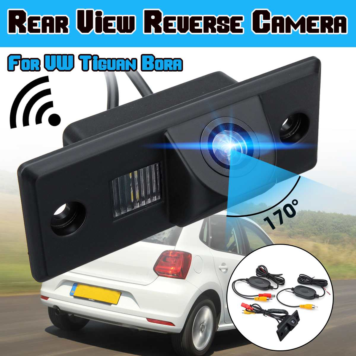 Car Rear View Camera Reverse Backup Parking for VW Tiguan Golf Mk4 Bora Polo Passat Jetta Porsche Cayenne Skoda Fabia Yeti