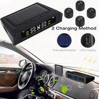 Vehemo Solar Power LCD Display Car TPMS Tyre Pressure Monitoring System Alarm Tool Universal Anti Explosion External Sensor